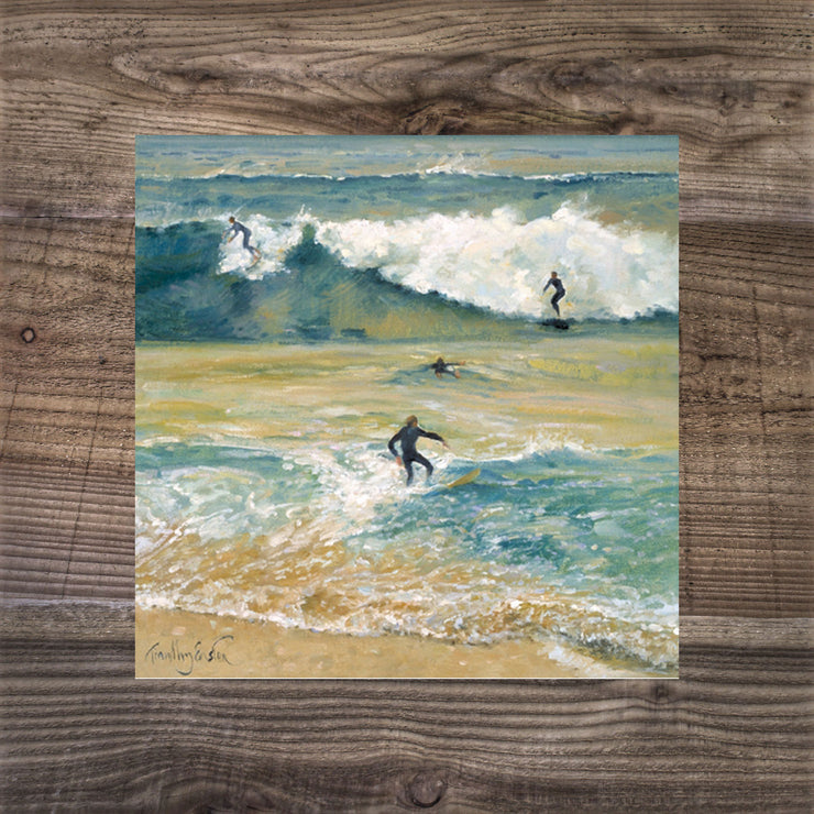 Surfers on the Crest