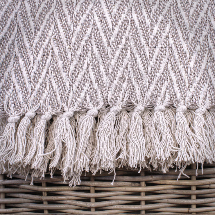Chevron Knitted Throw