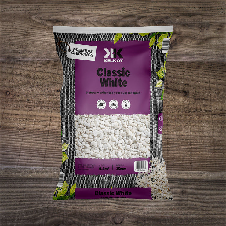 Classic White Chippings 8-12mm