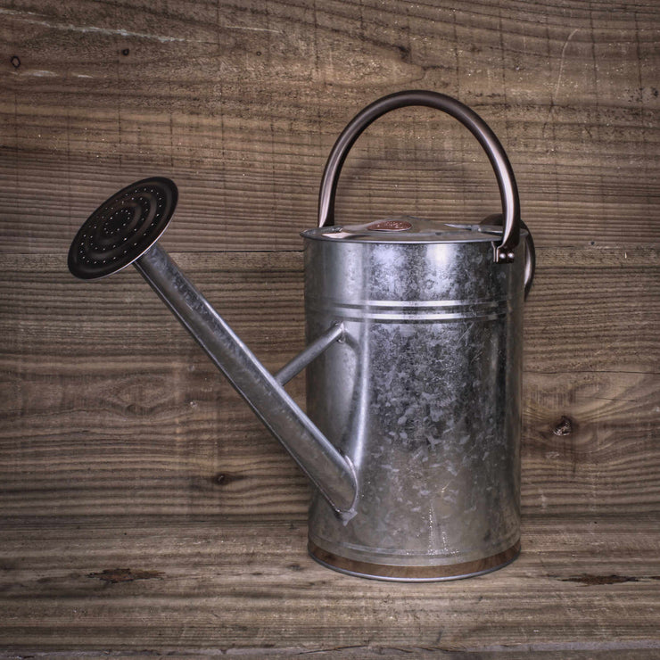 Copper Trim Metal Watering Can