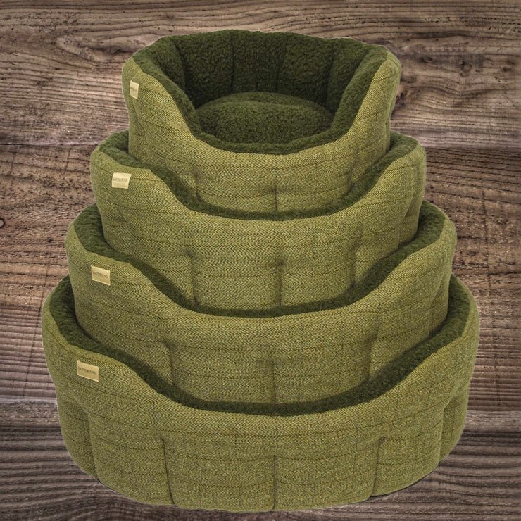 Earthbound Tweed Bed Green