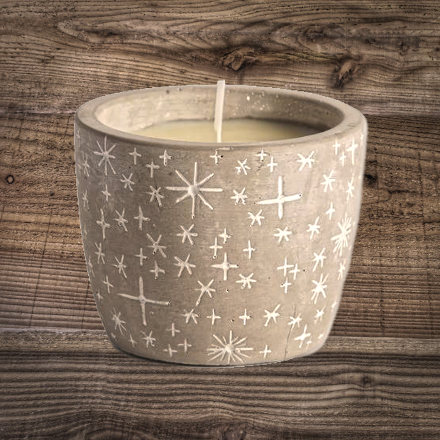 Festive Star Pot Candle