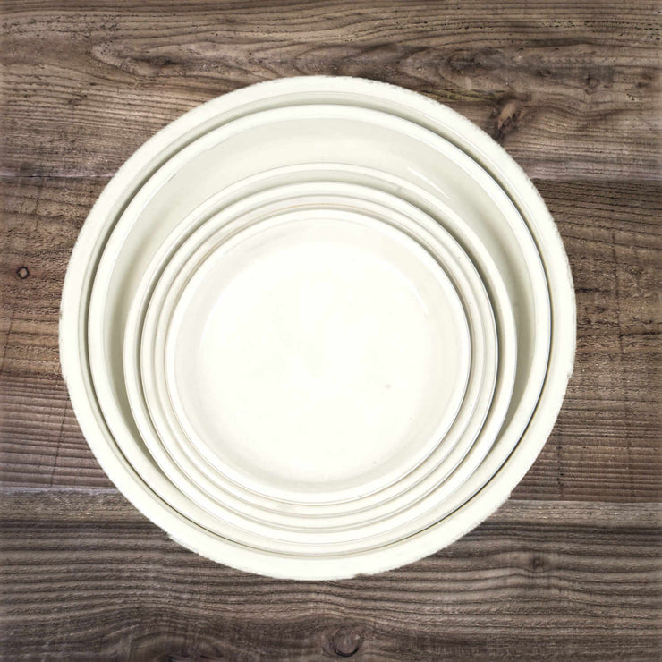 Glazed Saucer White