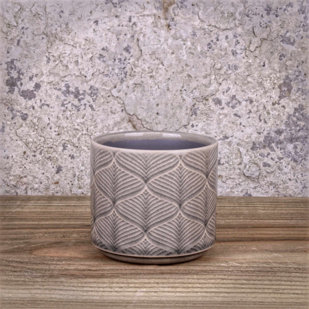 Grey Wavy Pot Ceramic