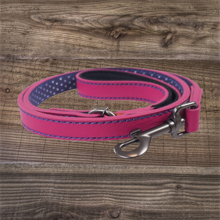 Joules Pink Leather Lead