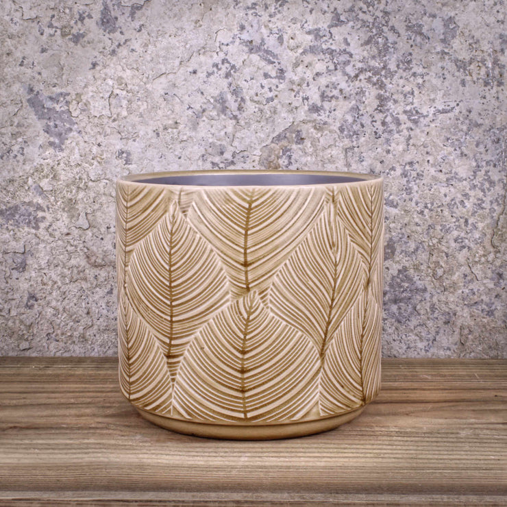 Mustard Leaf Pot Ceramic