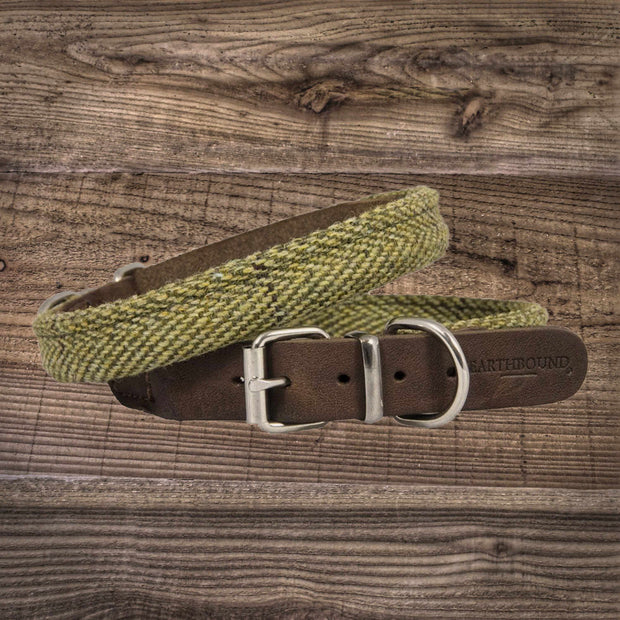 Earthbound Rolled Tweed Leather Collar