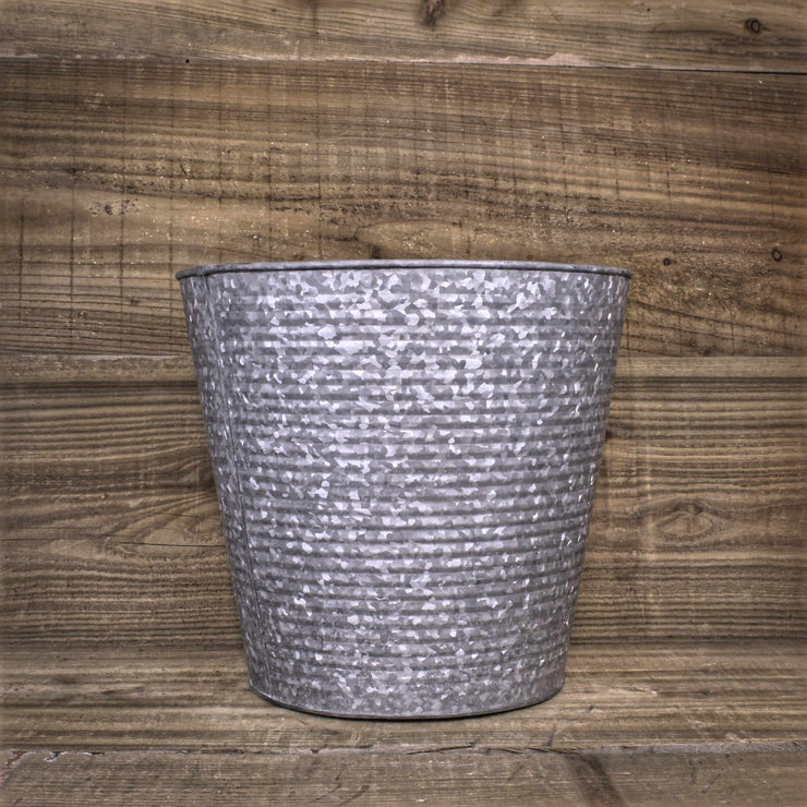 Ribbed Galvanised Planter