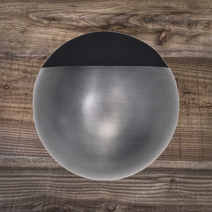 Round Wall Planter in Antique Pewter
