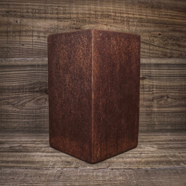 Rust Tall Square Pot