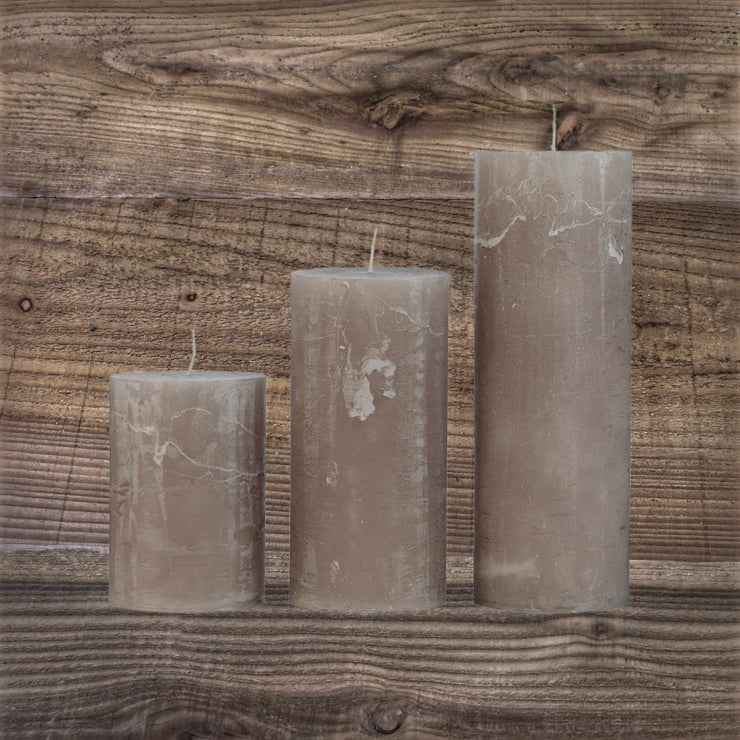 Rustic Candle Taupe