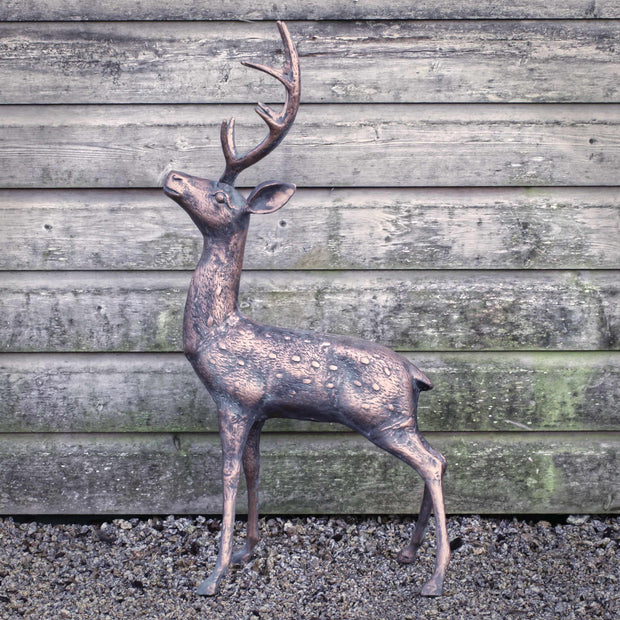 Cast Metal small deer (with antlers)