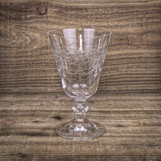 Victorian Rustic Engraved Wine Glasses