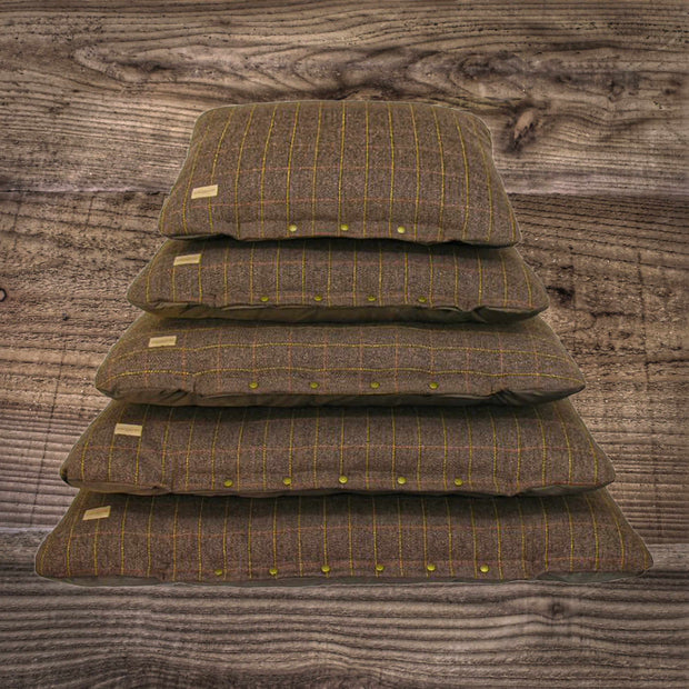 Earthbound Tweed Flat Cushion Brown