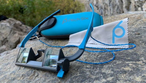 EyeSend Belay Glasses with microfiber and case