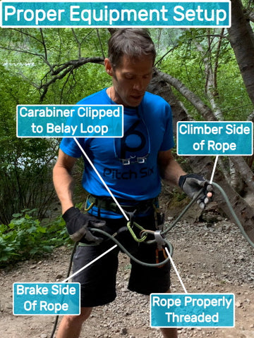 Proper Belay Setup how to use the rope
