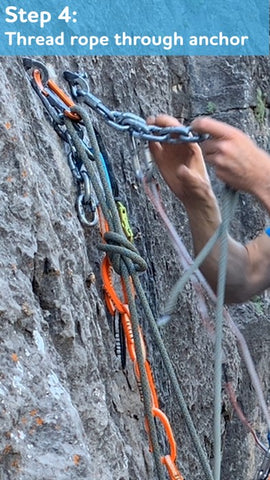 Cleaning Anchor Step4: Thread rope through chains