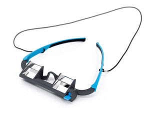 EyeSend belay glasses with a white background.