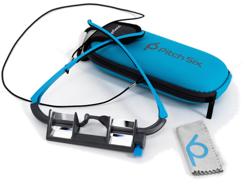 Rockcliming belay Glasses Blue with Adjustable view