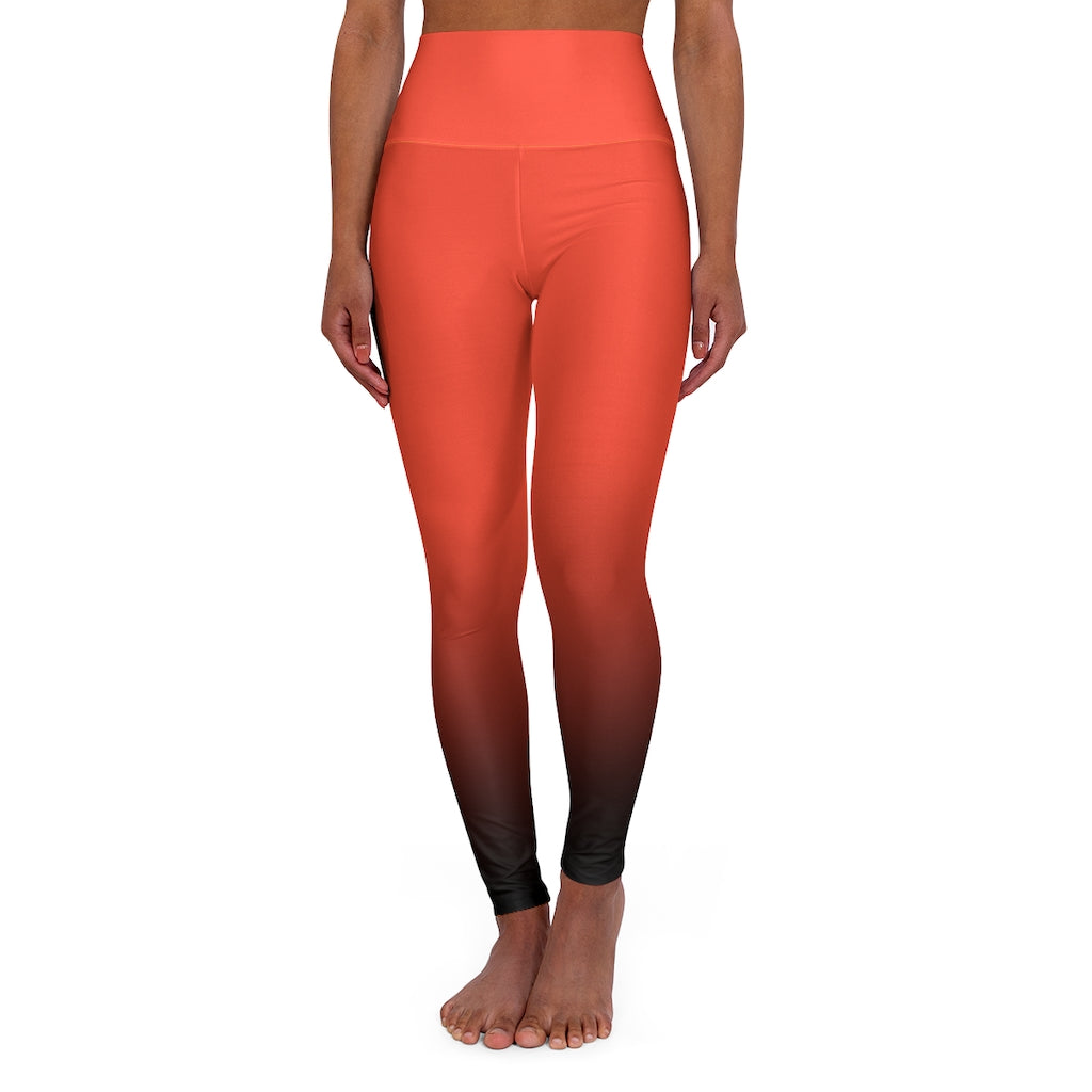 Coral Crest Yoga Leggings-Degree T Shirts