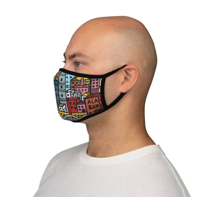 City Sleek Fitted Face Mask-Degree T Shirts