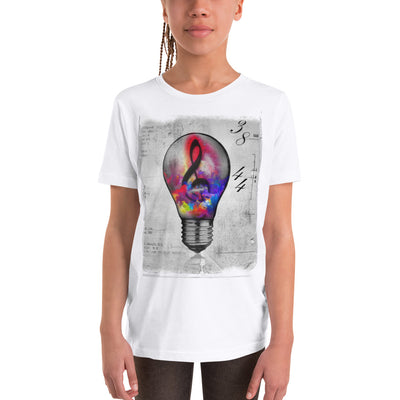 Bulb Musical Note Graphic Printed T-Shirt