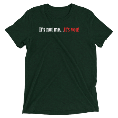 Plus Black 'It's Not Me...It's You' Slogan T-shirt