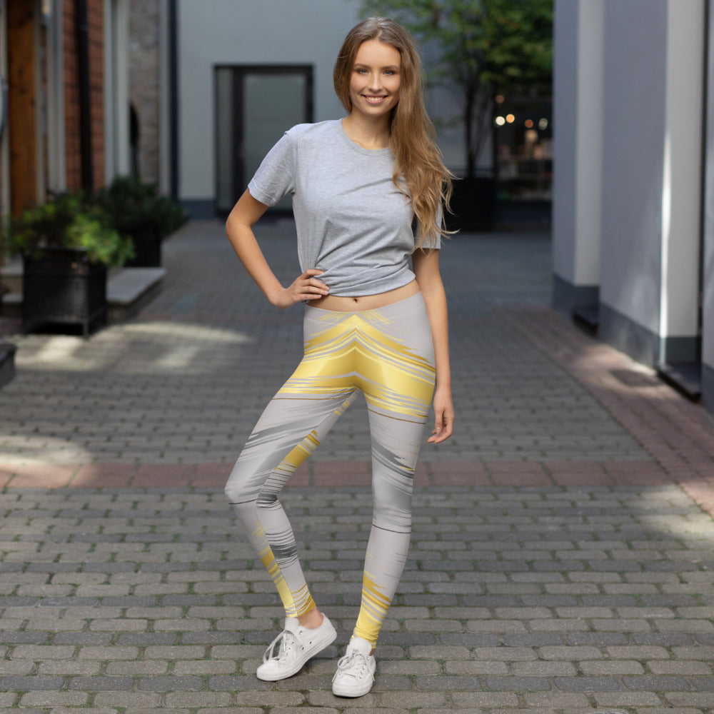 Gold and Silver Swipe Leggings