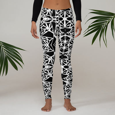 Black/ White Pattern Leggings