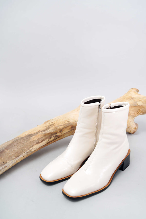 Off white square toe boots