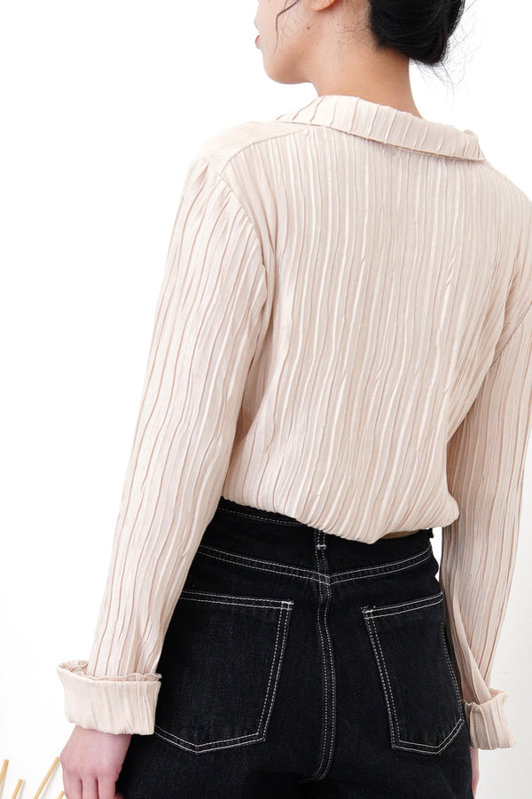 Nude stripes texture cardigan