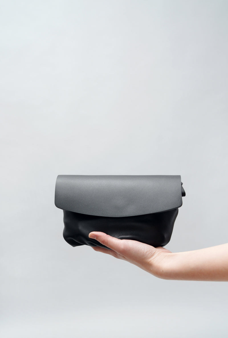 Black multi function premium leather clutch