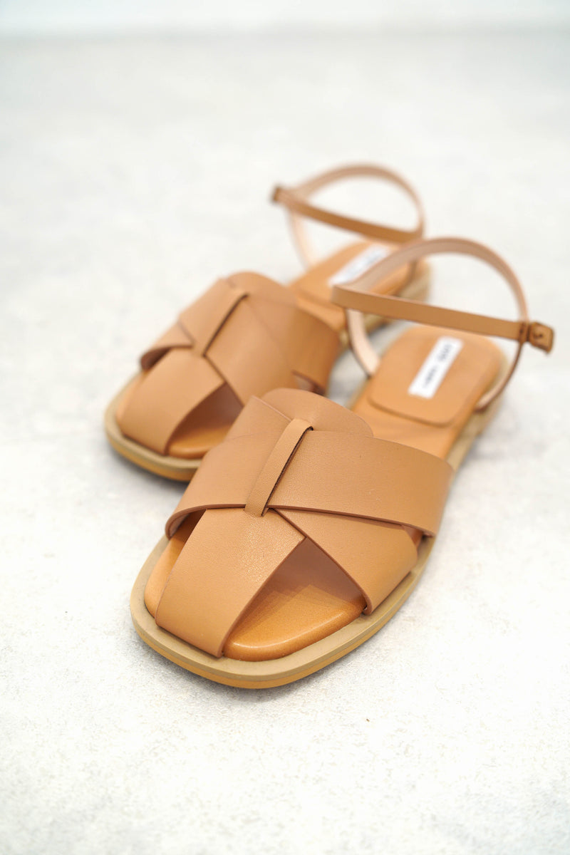 Brown woven sandals