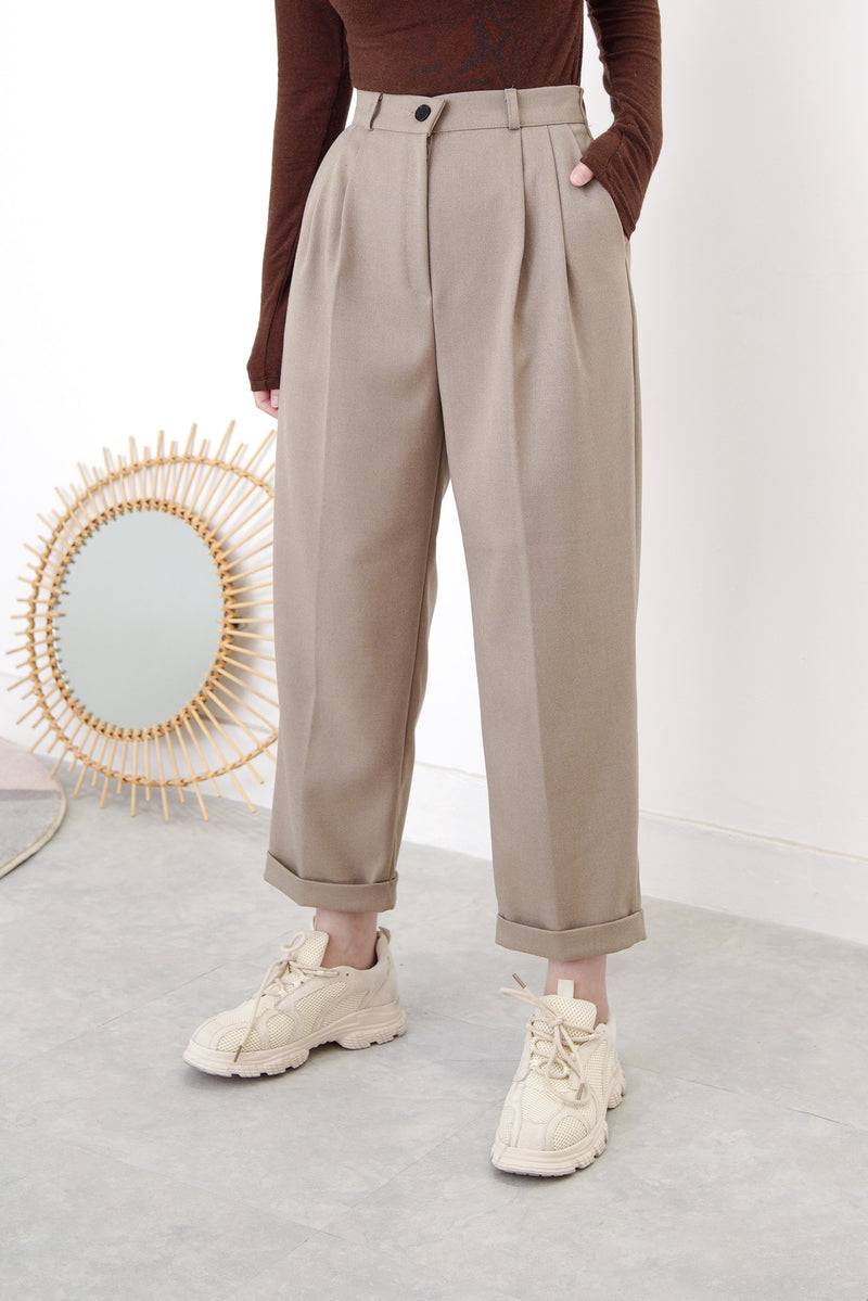 Choco brown pencil cut trousers
