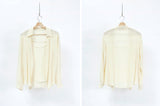 Cream texture blouse w/ attached inner