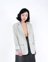 Grey checked blazer