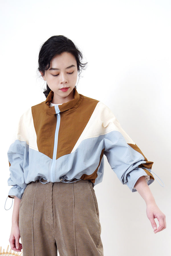 Patchwork windbreak in crop cut