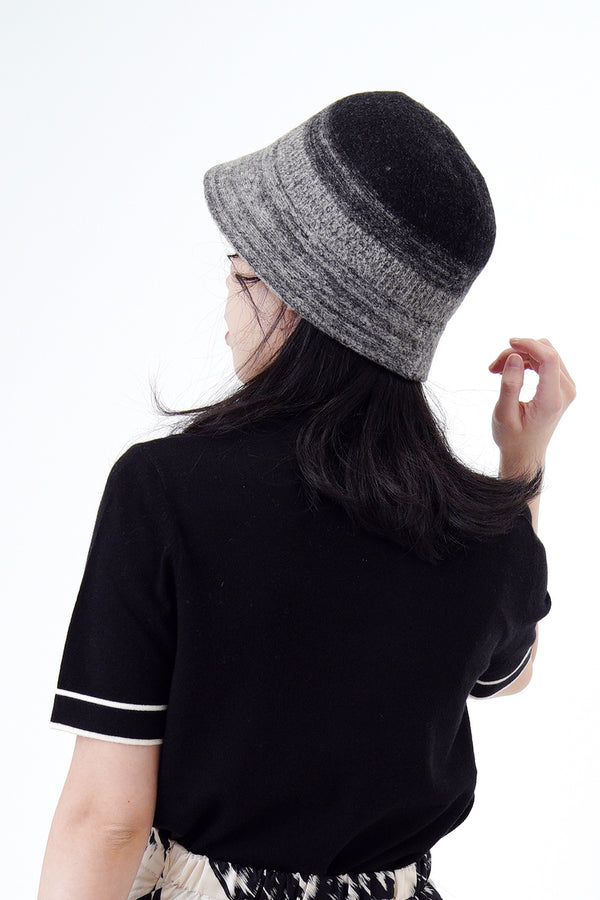 Black gradient bucket hat