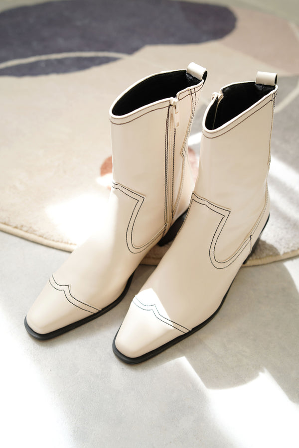 Ivory western boots