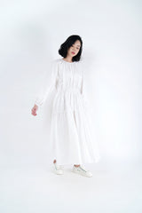 White cloud maxi dress