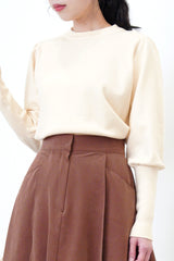 Maroon flare cut skirt in elastic waist