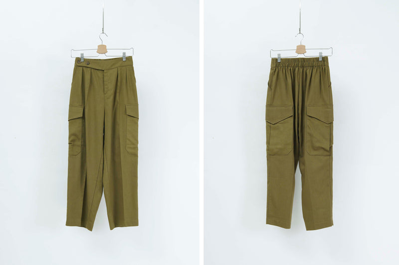 Khaki trousers w/ pockets
