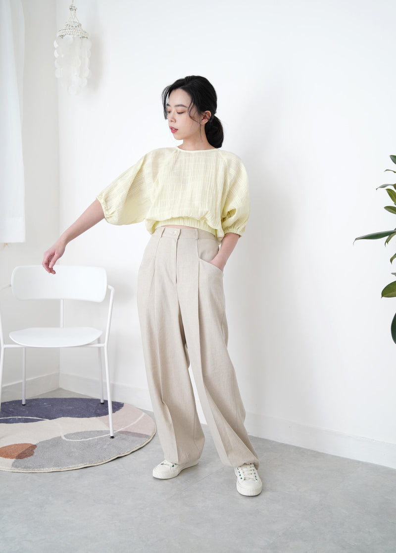 Light beige long trousers