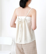 Nude cami vest in string detail back