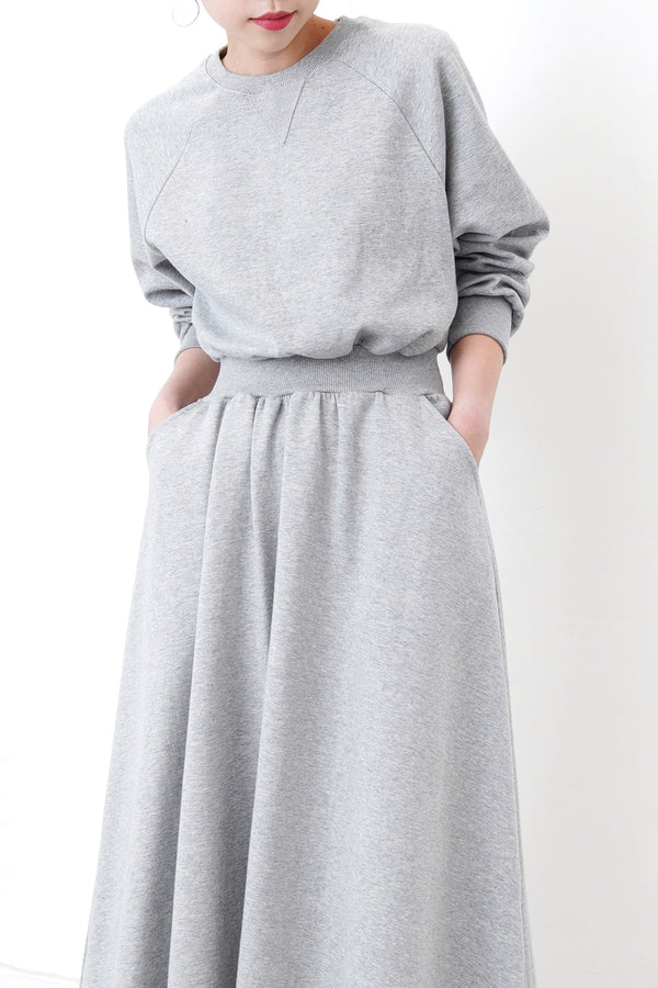 Grey sweater dress w/ pockets