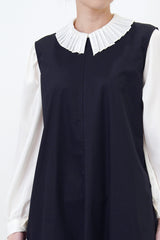 Dark navy dress in detail back