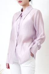 Pastel purple premium sheer shirt