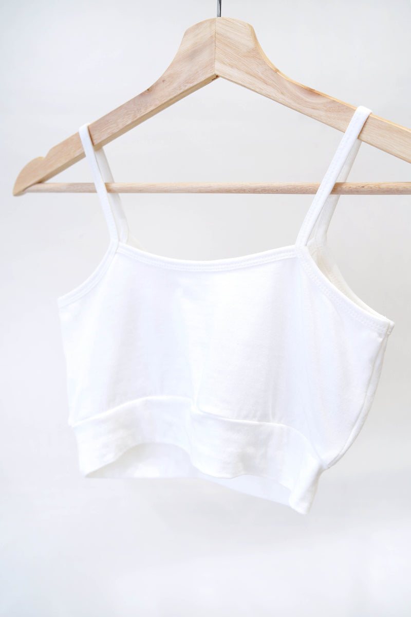 White camisole inner with bra pads