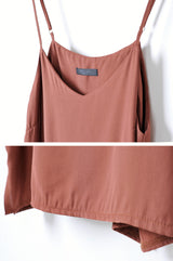 Brown camisole w/ adjustable straps