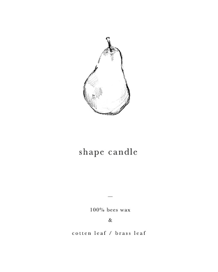 Bees wax candle in pear shape (Deep green)